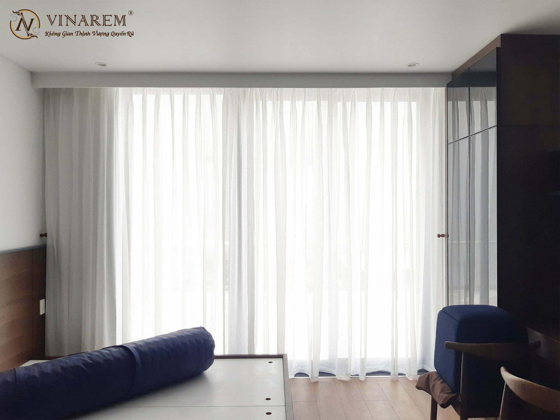 Rèm voan cao cấp trang trí phòng ngủ