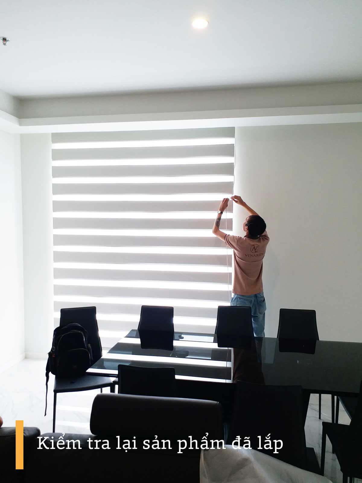 Công trình rèm cầu vồng cửa sổ văn phòng | Vinarem