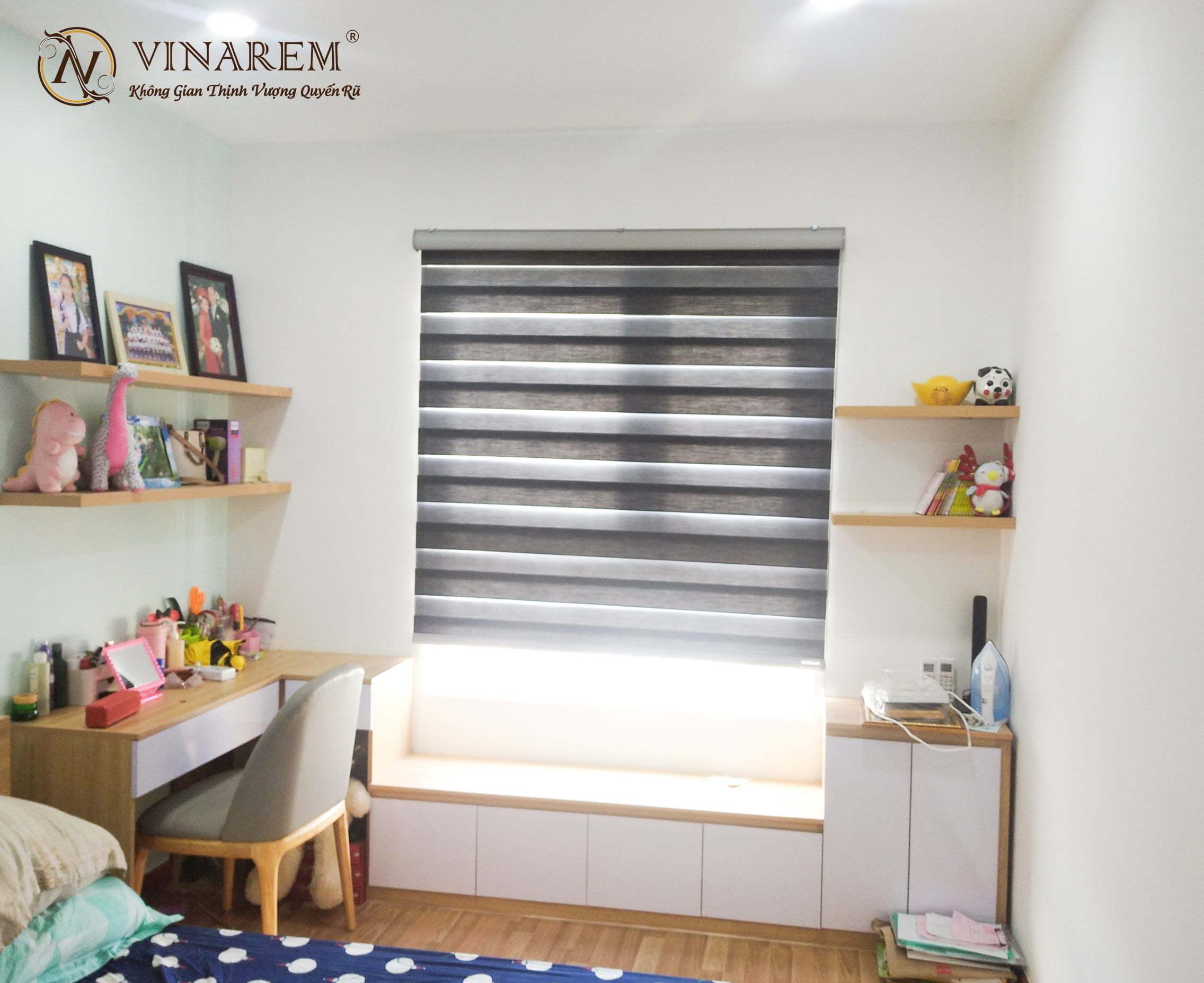 Rèm cầu vồng cửa sổ phòng ngủ cao cấp   Vinarem