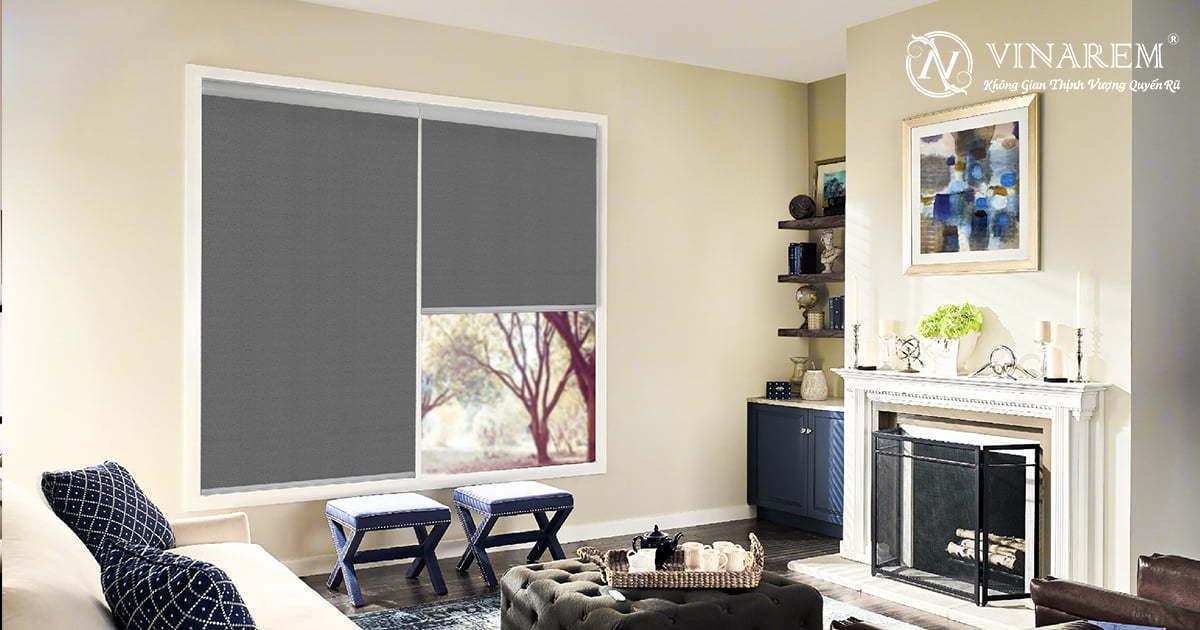 Rèm cuốn cửa sổ màu xám đen | Vinarem