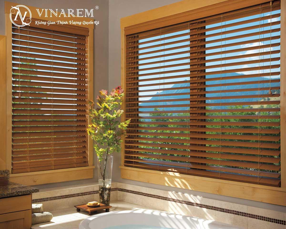 Rèm sáo gỗ cao cấp cho không gian phòng ngủ | Vinarem