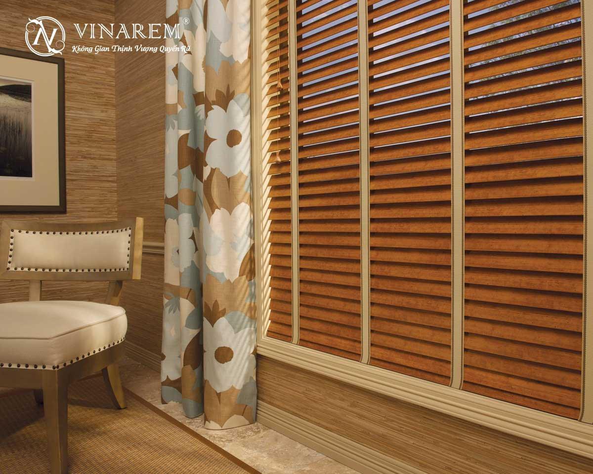 Rèm sáo gỗ cao cấp cho không gian phòng ngủ
