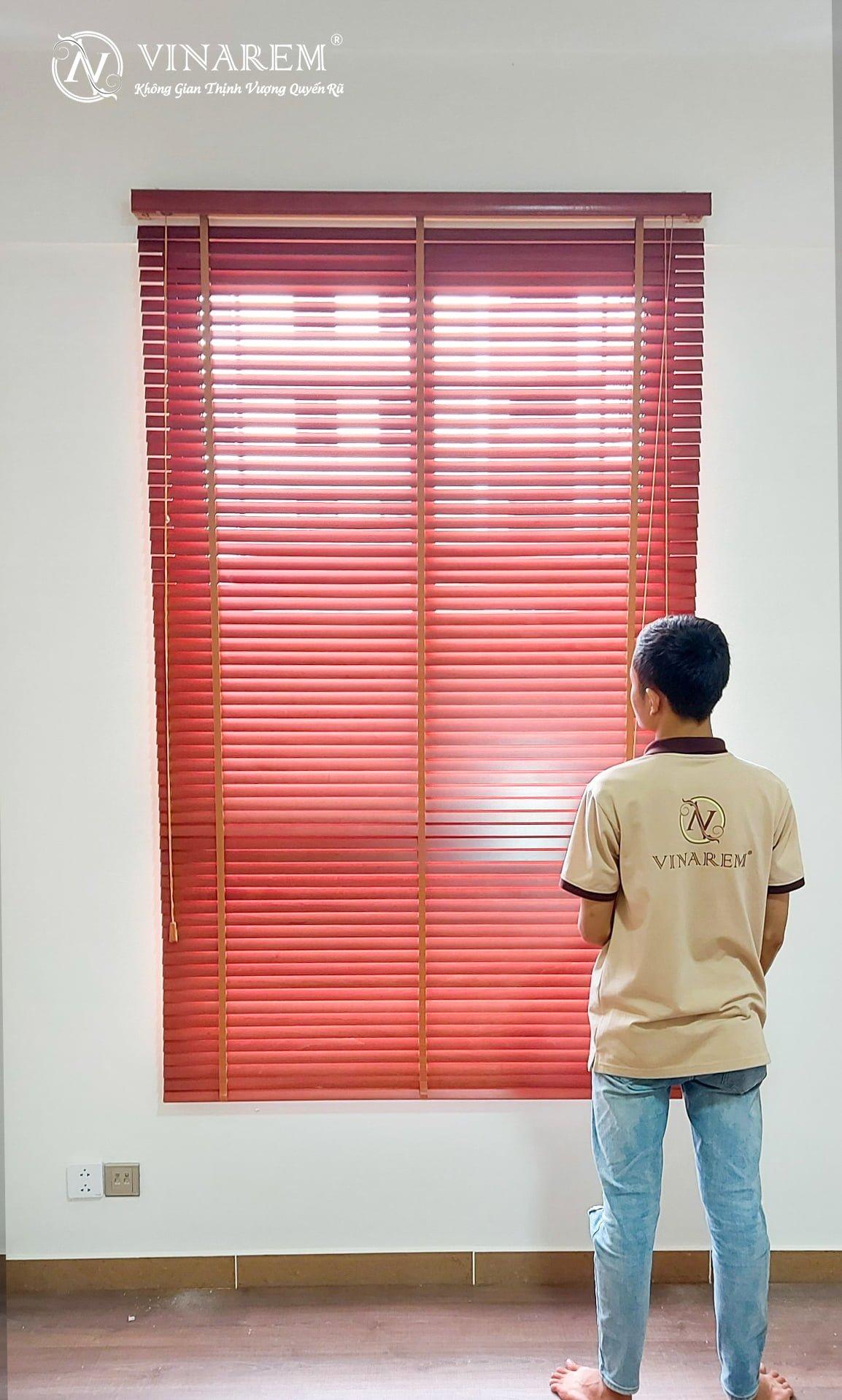 Rèm sáo gỗ cửa sổ cao cấp | Vinarem