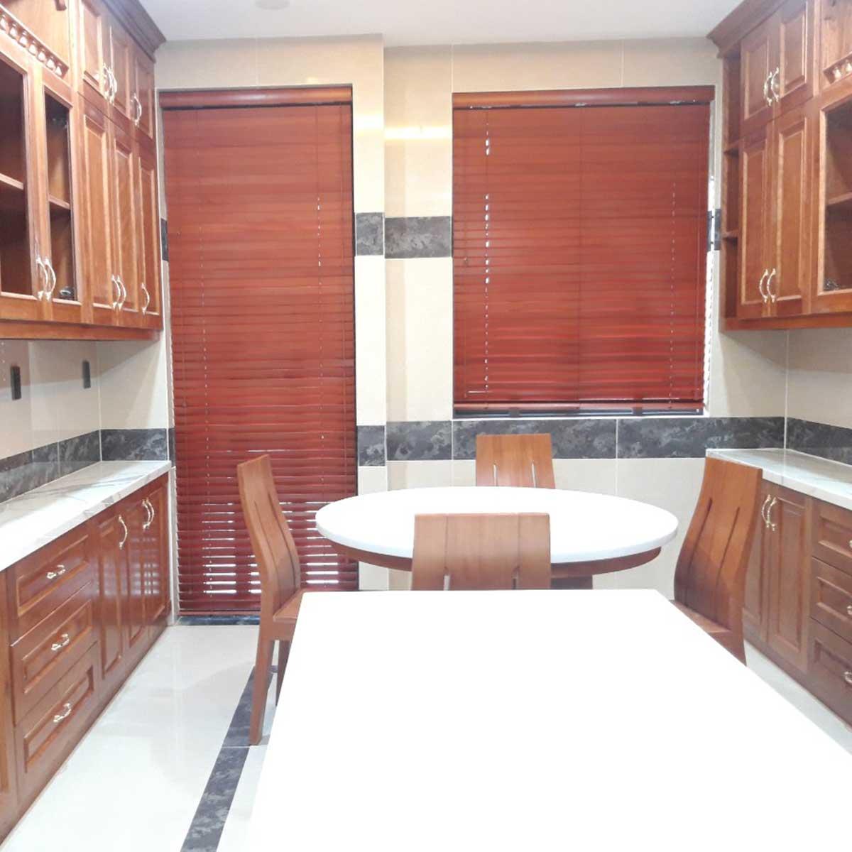 Rèm sáo gỗ cao cấp cho không gian nhà bếp