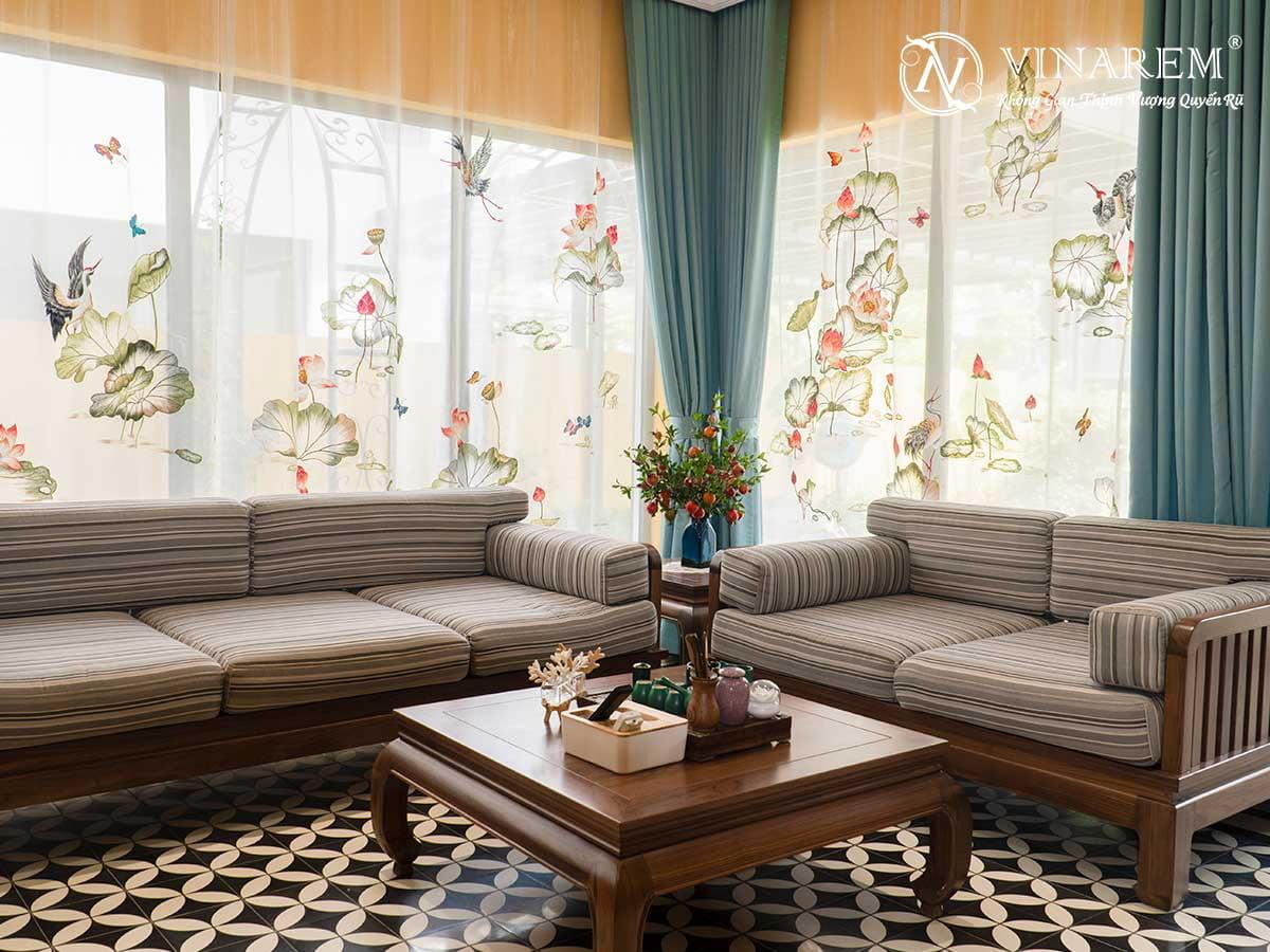 Rèm thêu cao cấp dành cho phòng khách | Vinarem