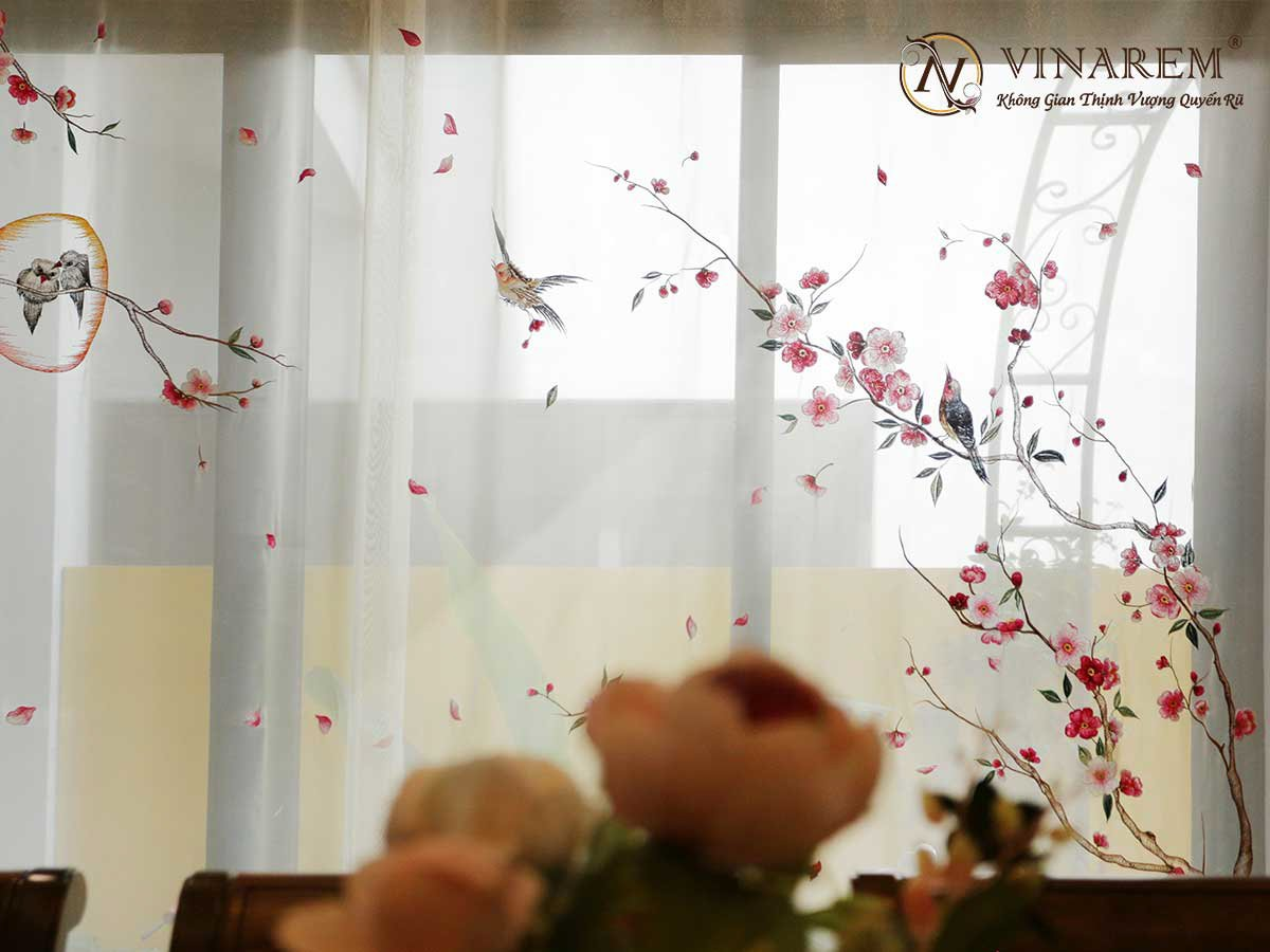 Rèm thêu cao cấp dành cho phòng ăn | Vinarem