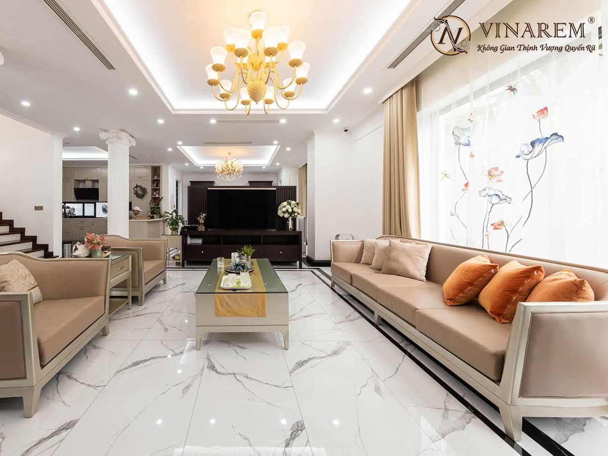 Rèm thêu cao cấp cho không gian phòng khách sang trọng | Vinarem