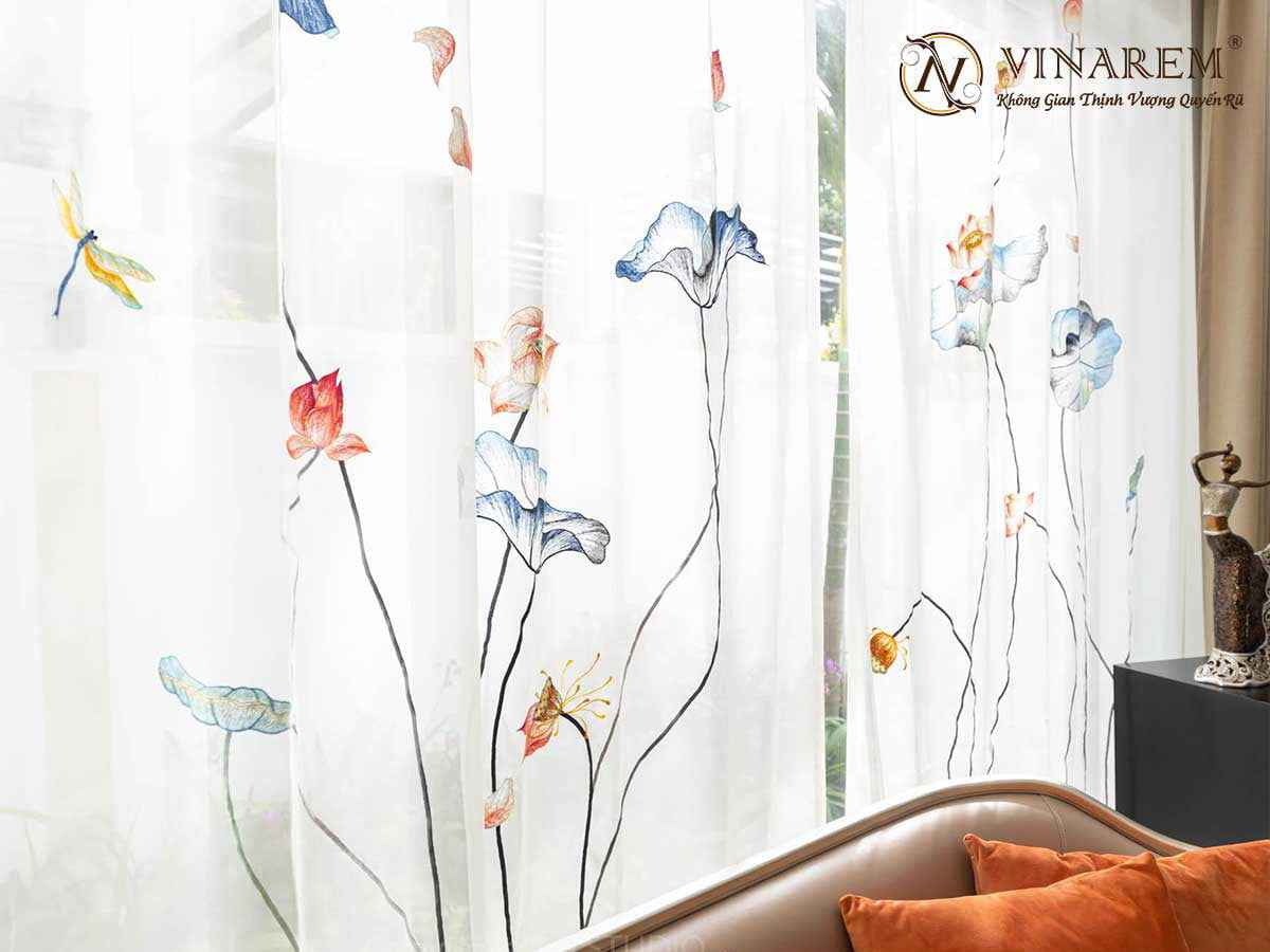 Rèm thêu cao cấp cho không gian phòng ngủ quyến rũ | Vinarem