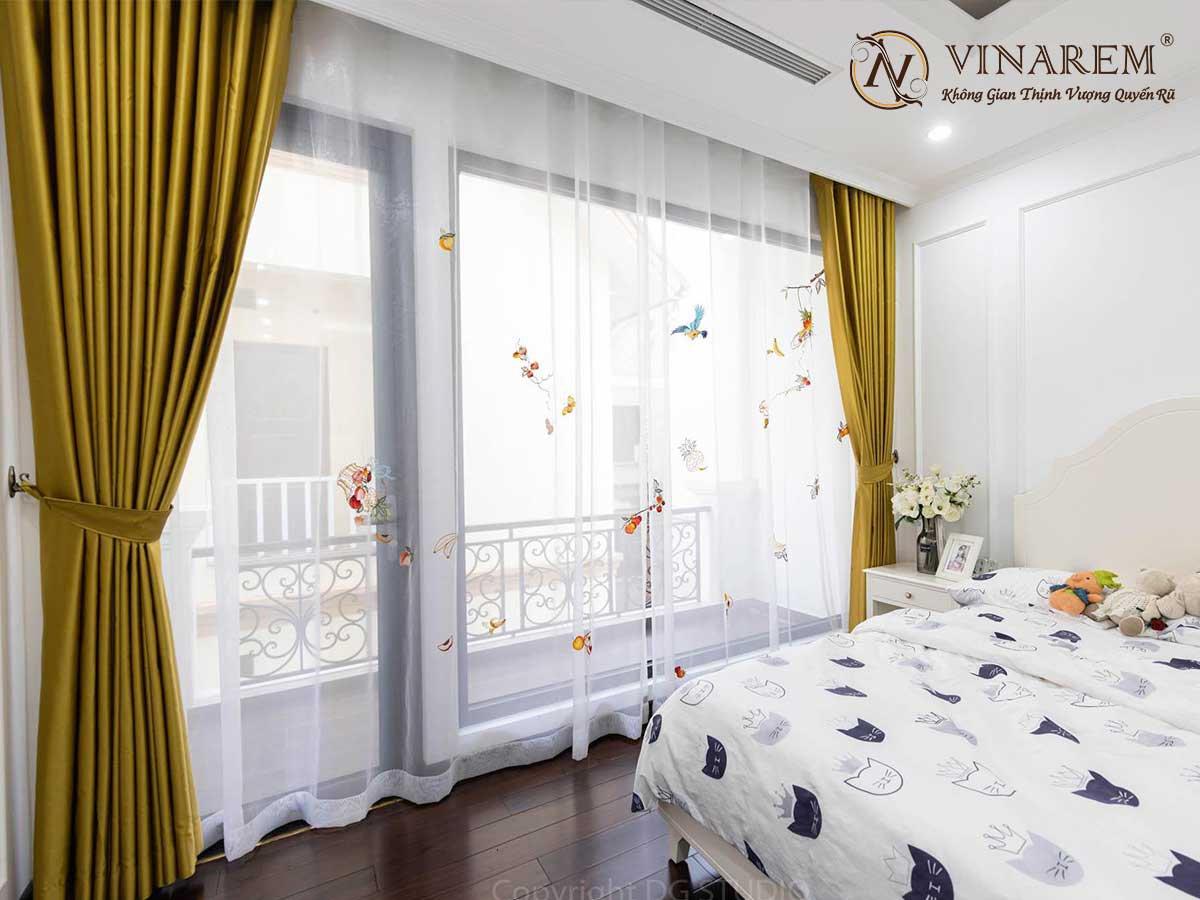 Rèm thêu cao cấp cho không gian phòng ngủ quyến rũ