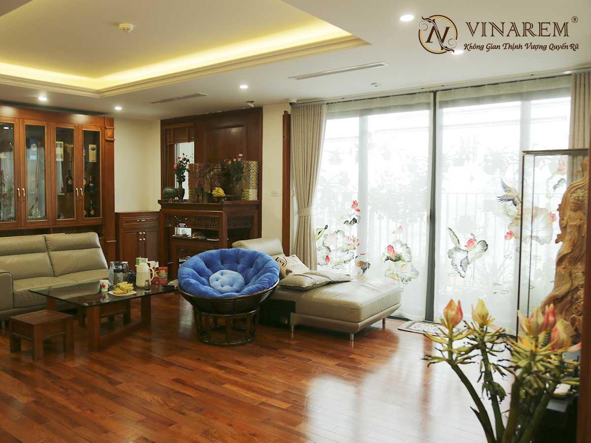 Rèm voan thêu không gian căn hộ chung cư cao cấp | Vinarem