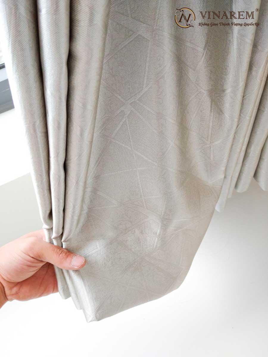Rèm cửa một lớp vải gấm màu xám | Vinarem