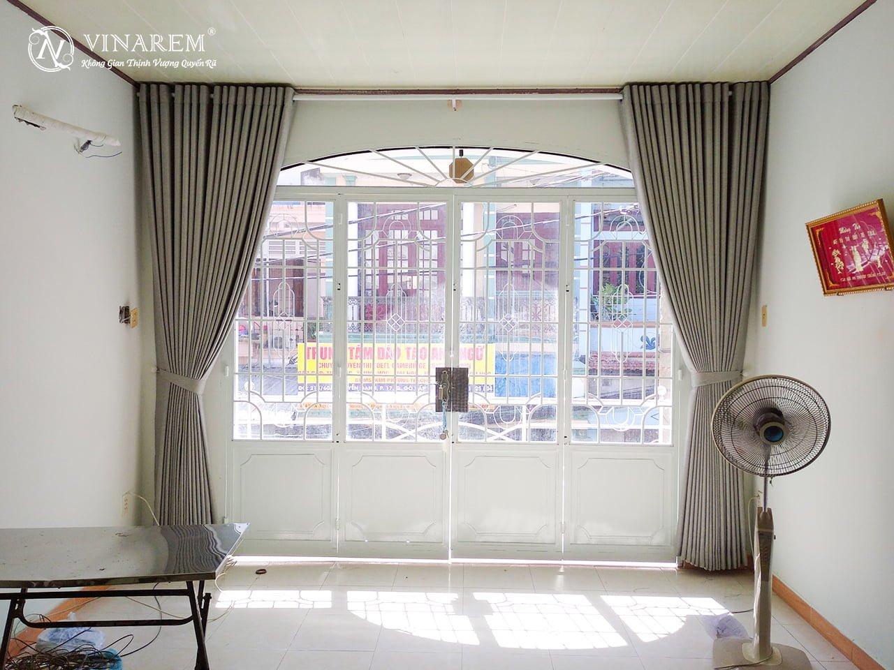 Rèm vải một lớp cao cấp cho không gian nhà phố | Vinarem