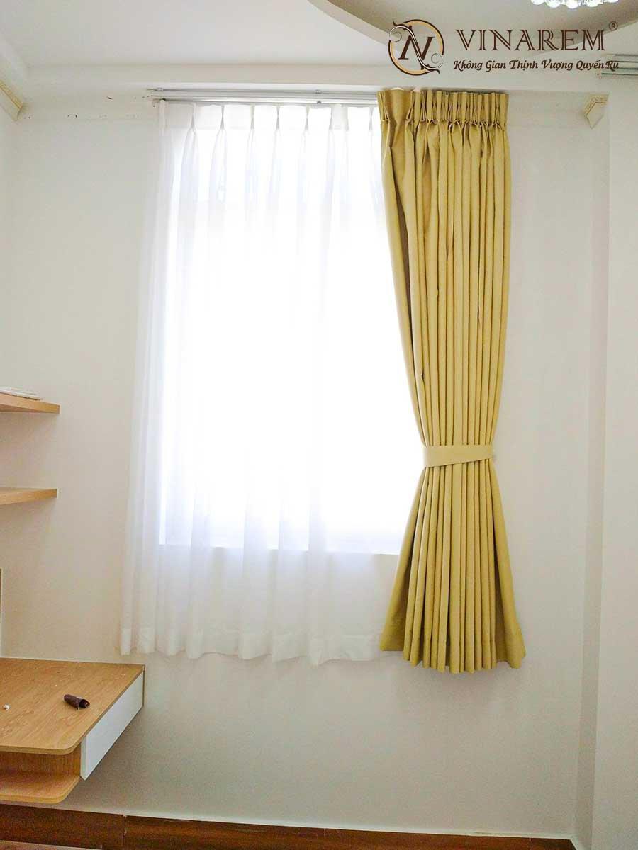 Rèm vả hai lớp màu vàng dành cho biệt thự sang trọng | Vinarem