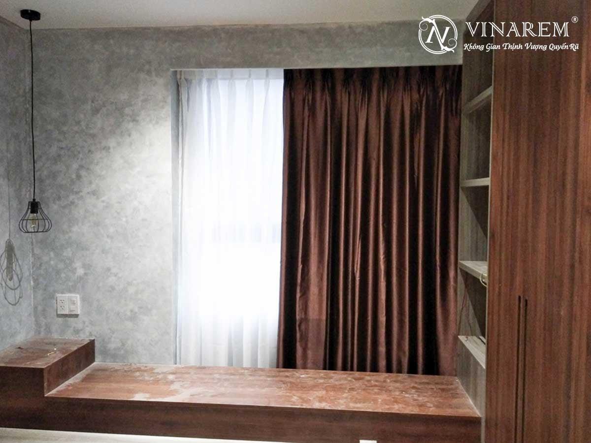 Rèm vải hai lớp cửa sổ căn hộ chung cư | Vinarem