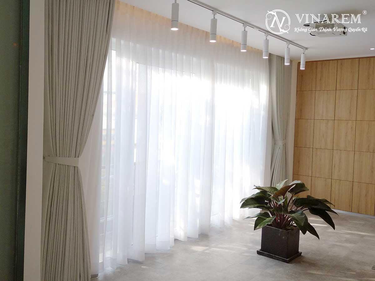 Rèm vải hai lớp màu trắng | Vinarem