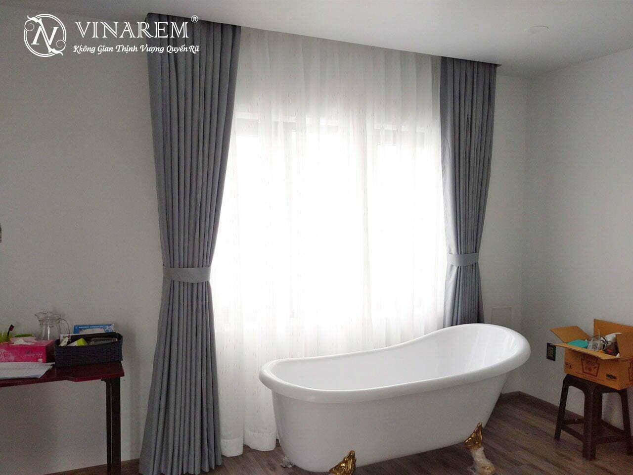 Rèm vải hai lớp cho không gian biệt thự VLPH4003 | Vinarem