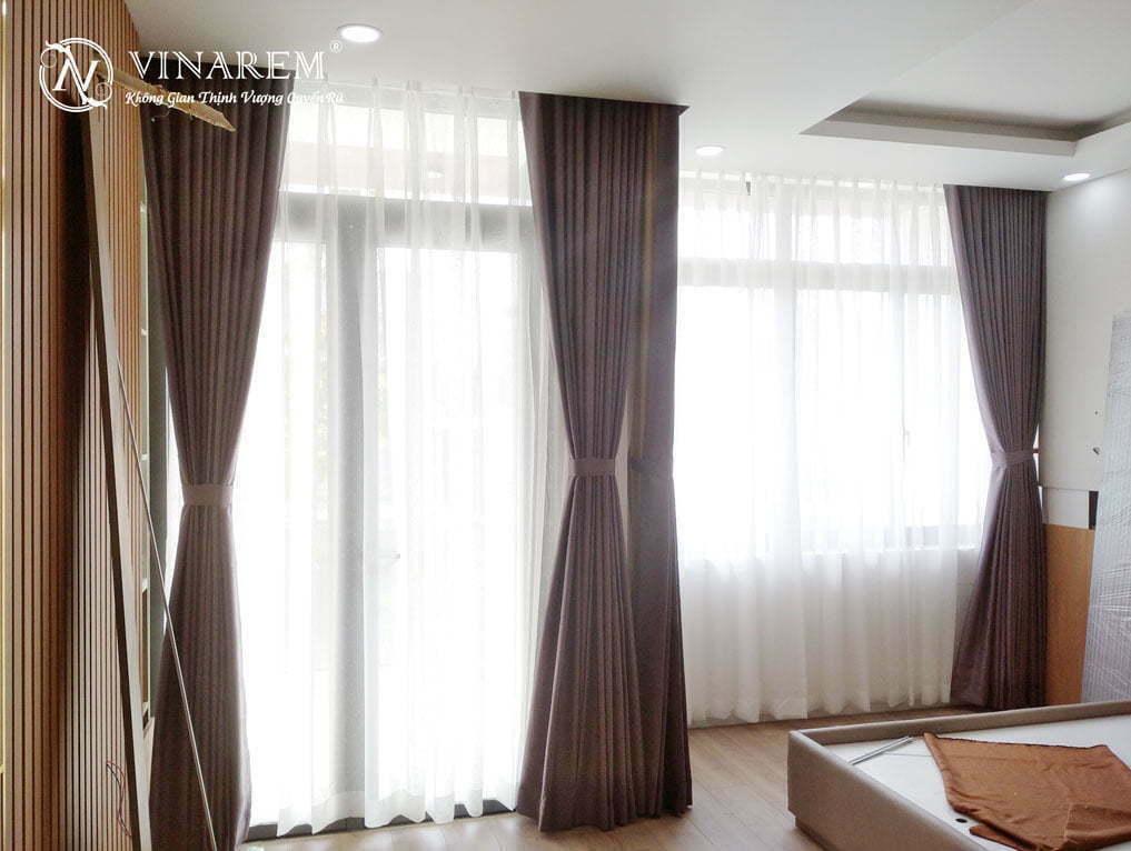 Rèm vải hai lớp cho nhà phố HEMY54106 | Vinarem