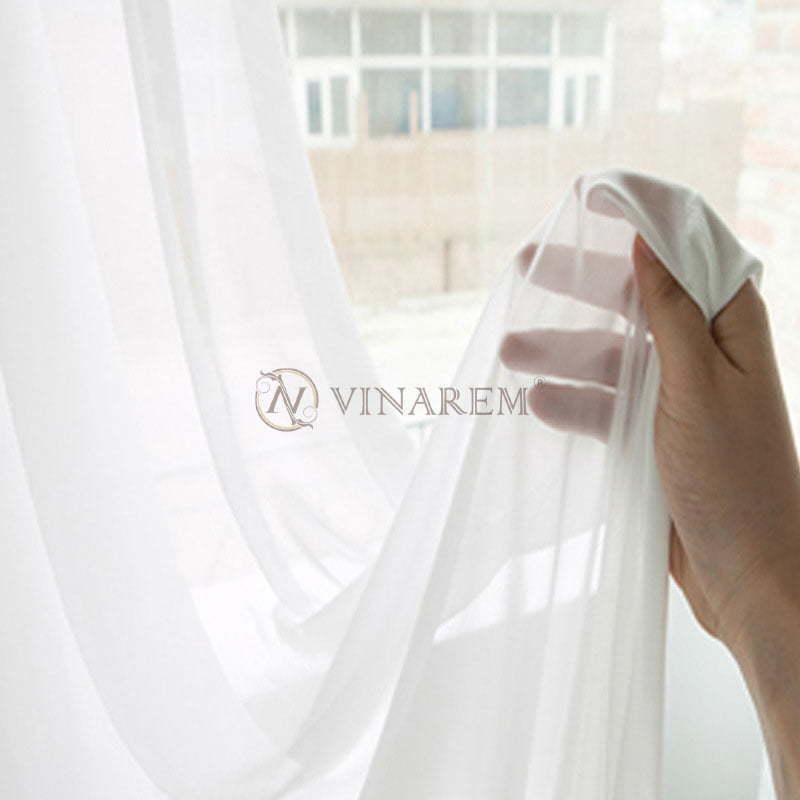 Rèm voan màu trắng | Vinarem