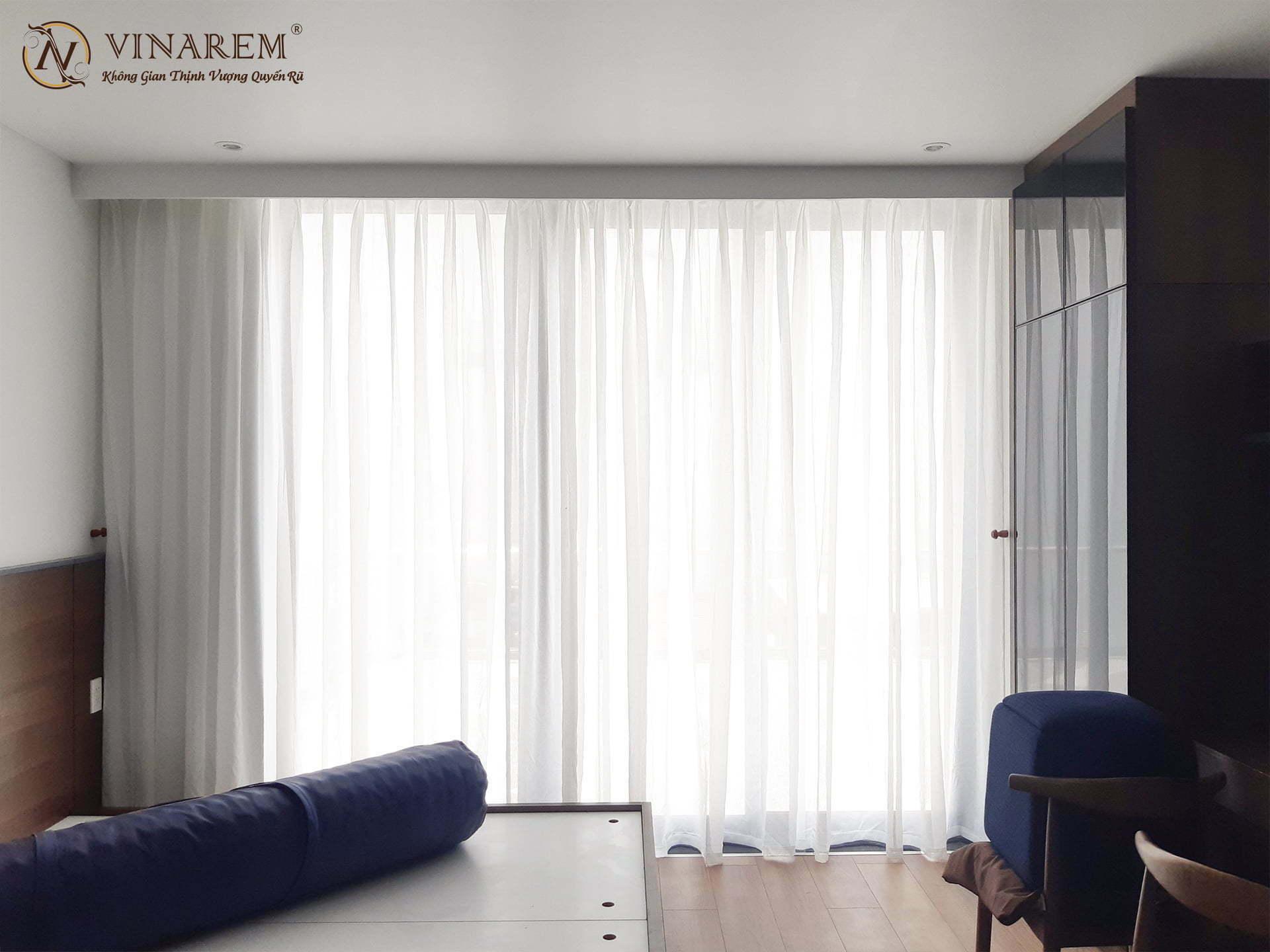 Rèm vải voan trơn cho căn hộ CCPHW22 | Vinarem