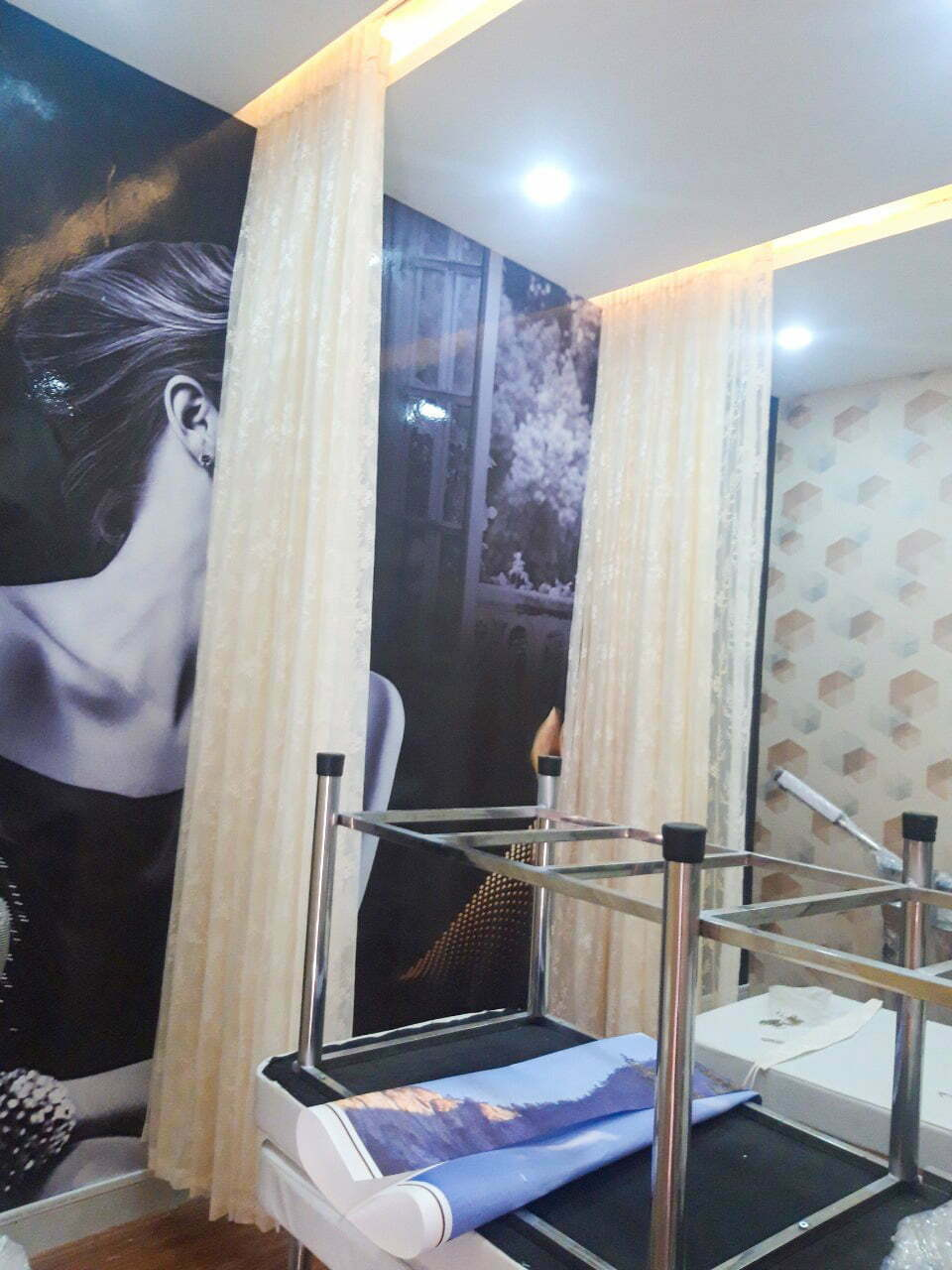 Rèm voan họa tiết cho Spa SPH201 | Vinarem