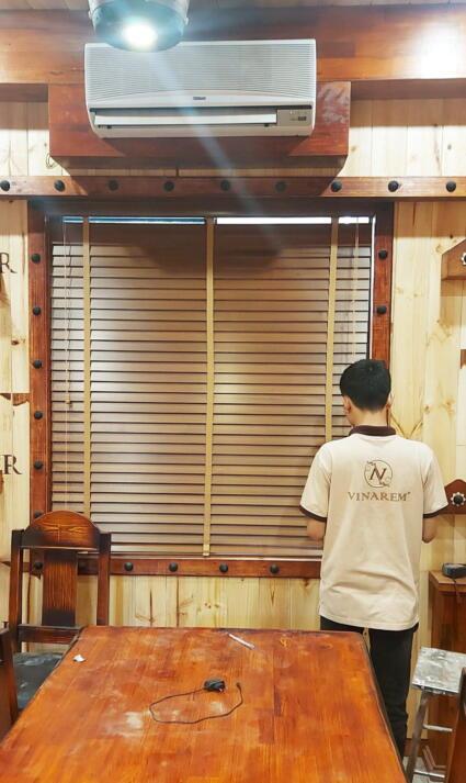 màn sáo gỗ