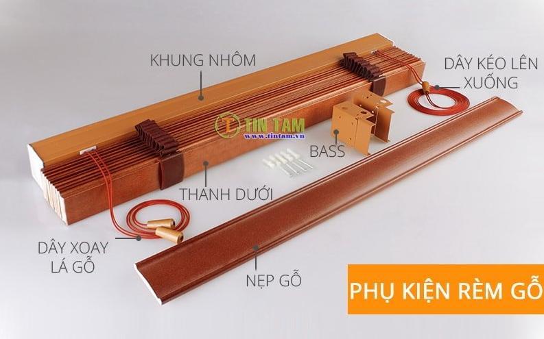 phụ kiện rèm sáo gỗ