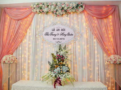 rèm voan trang trí lễ cưới